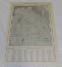 1911 Collier Map of ITALY, b/w JAPAN