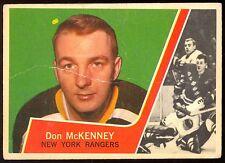 1963-64 TOPPS HOCKEY #53 DON MCKENNEY VG BOSTON BRUINS CARD