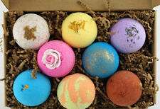 8 BATH BOMB FIZZY GIFT SET LOT (4.5oz) Assorted Scent & Color Luxurious