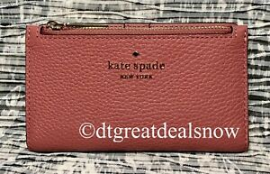 NEW Kate Spade Leila Small Slim Bifold Wallet Leather Pomegranate