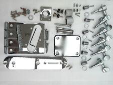 Telecaster guitar full chrome hardware parts bridge neck machine heads knobs TL