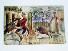 1910 E.HAMEL/NOTTINGHAM SIGNS OF THE ZODIAC ADVERTISING APRIL CALENDAR POSTCARD