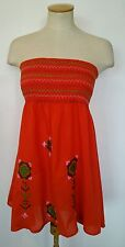 Ladies Miss Selfridge dress embroidered summer peasant boho gypsy folk medium