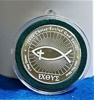 Ichthus John 3:16 .999 Silver Coin In Decor Capsule