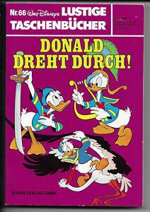 ERSTAUFLAGE Lustige Taschenbücher Nr.66 von 1980 Donald dreht durch! - TOP Z1