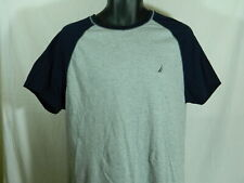 Nautica Gray Baseball Sleep Tee Shirt    Size:  Large