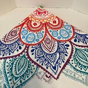 Mandala Wall Hanging Decor Hippie Boho Bohemian Tapestry Round 29 inch diameter