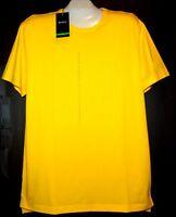 Hugo Boss Yellow  Cotton Men's T- Shirt Sz 2XL NEW Black Label