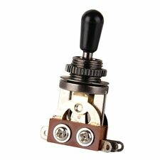 Black Tip 3 Way Switch Pickup Electric Guitar Selector Toggle Les Paul Epiphone