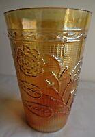 Vintage Carnival Glass Tumblers Rose Fantasy Jain Glass Works India Rare#41 F