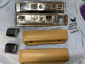 1970-1995 Dodge Plymouth Ram Van Door Arm Rests Tan W/brackets & Pulls OEM 70-95