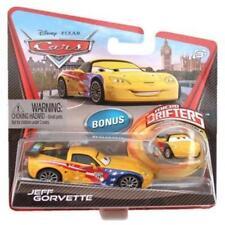 DISNEY PIXAR CARS SET 4 W/ MICRO DRIFTERS JEFF GORVETTE MAX SCHNELL NIGEL RAOUL