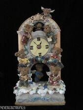 Teddy Bear Angel Shelf Clock~Resin~Nib