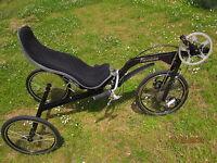 Plegable Bicicleta tumbada Triciclo flevobike flevo trike