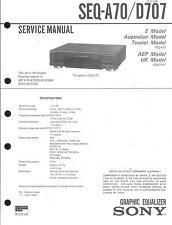 Sony  Original Service Manual für SEQ- A 70 / D 707