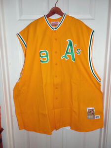 Reggie Jackson Authentic 1971 Mitchell & Ness Oakland A's Jersey Vest Size 5x NW