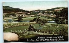 1909 Middlesex Valley from C.V.R.R. Rail Road Railway Vermont VT Postcard B01