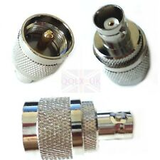 BNC Female to UHF Male PL-259 Coax RF Jack Straight Adapter Connector Convertor