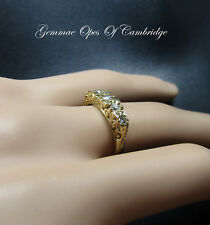 18K Gold 18ct gold Five Stone Diamond Ring Size L 4g 0.4 carats