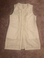 Chicos size 1 Ivory sleeveless vest Ladies NWTs