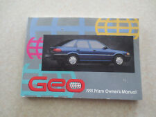 1991 Chevrolet Geo Prizm automobile owners manual - Chev