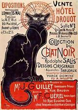CAT,  CHAT, KATZE, CHAT NOIR, ART NOUVEAU POSTER, BY STEINLEN, MAGNET