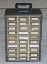 VINTAGE AKRO MILLS 30 DRAWER SMALL PARTS STORAGE CABINET BIN ORGANIZER