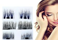 1 Pair Magnetic False Eye Lashes 3D Reusable False Magnet Eyelashes No Glue CTY