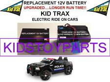 DODGE SWAT CAR REPLACEMENT KID TRAX 12 VOLT BATTERY LONGER RUNTIME THAN ORIGINAL