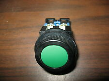Fuji AR30F0R Green 33.5 MM Flush Momentary Push Button with N.O. Contact