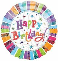 HAPPY BIRTHDAY HELIUM QUALITY FOIL BALLOON RADIANT 45CM BIRTHDAY PARTY SUPPLIES