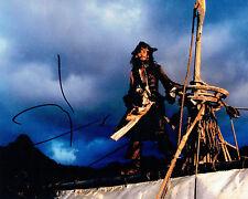 Johnny DEPP Signed Autograph 10x8 Pirates of the Caribbean Photo B AFTAL COA