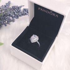 NEW Authentic Pandora 925 Silver Sparkle Big CZ Radiant Teardrop Ring 196251CZ