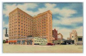 HOUSTON, Texas TX ~ Roadside BEN MILAM HOTEL ca 1940s Linen  Postcard