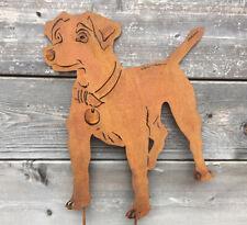 Hund Lassy Collie Höhe 80 cm Schäferhund Edelrost Rost Metall Gartendekoration