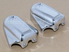 Chrome Bar Shield Rear Axle Cover Swingarm Cap For Harley Softail Slim FLS FLSTN