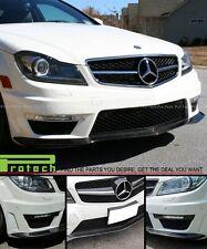 2012+ Benz W204 C63AMG Blcak Series Style Front Bumper Lip - Carbon Fiber