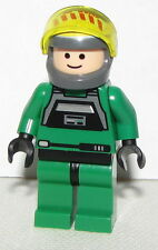 Lego New Star Wars Green Rebel Pilot A-wing Minifigure  Flesh Head Yellow Visor