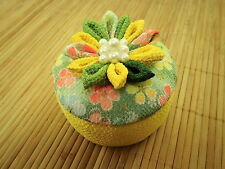 CHIRIMEN Japanese Crepe Fablic Handcrafted Decorative Floral Box 2 Room Ornament