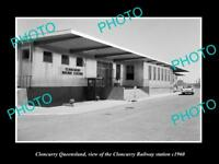 OLD LARGE HISTORIC PHOTO OF CLONCURRY QUEENSLAND, THE RAILWAY STATION c1960