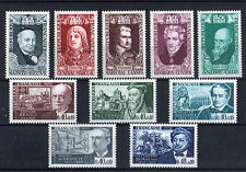 France 10 timbres non oblitérés gomme**  12 Célébrités