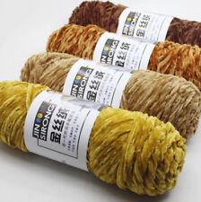 Diy Chenille Wool Yarn Gold Velvet Polyester Yarn For Knitting 24 colors