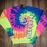 Tie Dye Sweatshirt Oklahoma Aquarium Tye Die Music Festival Rainbow Sweater