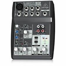 Mischpult Behringer XENYX 502 Audiomixer Main Mix 18x13 cm grau ohne Netzteil
