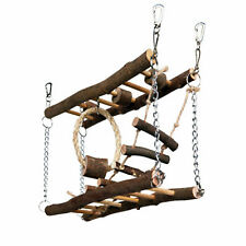 Pet Ting Natural Living Suspension Bridge Small Pet Toy Exercise Play Wood Rope