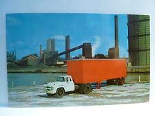 Postcard MO St Louis Fruehauf Single Axle Volume Van Semi Trailor Ad Card 1960's