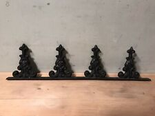 Antique Cast Iron Roof Crests Finials Design Salvaged Fence Pieces -4 Finials-