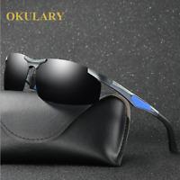Men Aluminum Polarized Sunglasses Outdoor Driving Sports Glasses New 2019