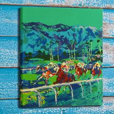 Print Art Painting LeRoy Neiman santa anita horses racing Home Deco Canvas 24x30