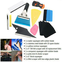 Car Window Tint Film Wrapping Vinyl Tools Squeegee Scraper Blade Applicator Kit